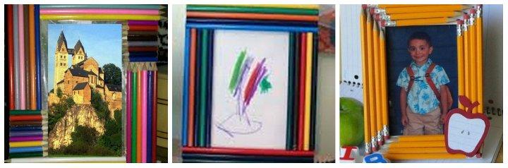 рамки для фото своими руками из карандашей