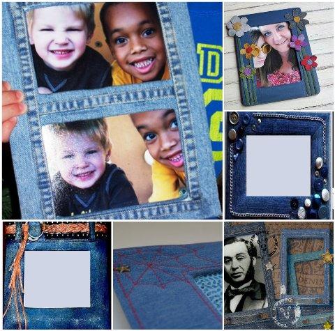 рамки для фото из джинсов