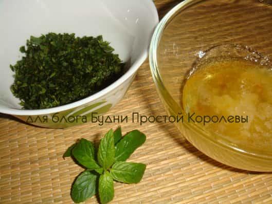 4 - Резаные листья мыты и мед-min