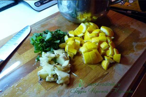 Чай-с-лимоном-имбирем-и-медом-рецепт