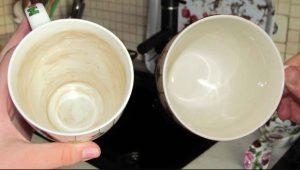 Миниатюра к статье Мои чашки сверкают чистотой: как очистить чашки от осадка чая и кофе
