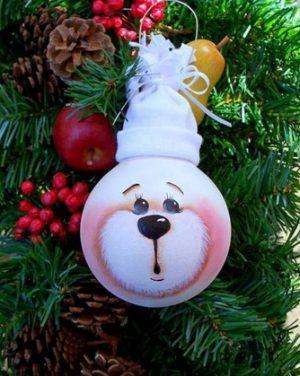 Миниатюра к статье Как украсить елку: используем старые лампочки